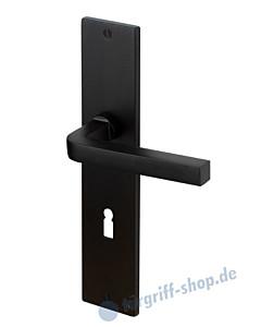 IQ Carre Langschildgarnitur Schwarz RAL 9005 von Jatec