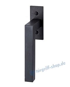 Ischgl Fenstergriff mit eckiger Rosette, mit Rasterung Multitac®, Stift 7 x 35 mm, Schwarzstahl von Halcö