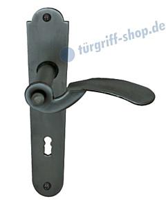 Kaprun II-LS Langschildgarnitur Stahl geschwärzt-matt Südmetall