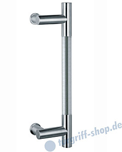 Klassik Modul 121/8 Stossgriff Länge 390 mm   Winkelgriffstütze   Edelstahl matt/Alu EV1 Schneider + Fichtel