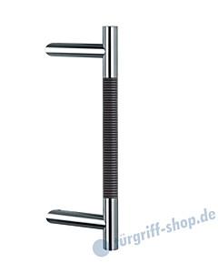 Klassik Modul 122/44 Stossgriff Länge 390 mm   schräge Stütze   Edelstahl matt/Alu schwarz Schneider + Fichtel