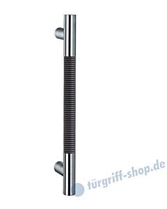 Klassik Modul 122/6 Stossgriff Länge 390 mm, gerade Stütze, Stange Ø 26 mm, Edelstahl matt/Alu schwarz eloxiert Schneider + Fichtel