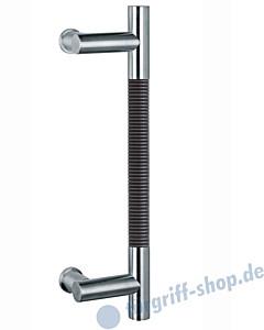 Klassik Modul 122/8 Stossgriff Länge 390 mm   Winkelgriffstütze   Edelstahl matt/Alu schwarz eloxiert Schneider + Fichtel