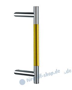 Klassik Modul 123/44 Stossgriff Länge 390 mm   schräge Stütze   Edelstahl matt/Alu goldfarben eloxiert Schneider + Fichtel
