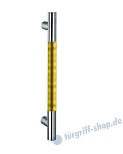 Klassik Modul 123/6 Stossgriff Länge 390 mm | gerade Stütze | Stange Ø 26 mm | Edelstahl matt / Alu goldfarben eloxiert Schneider + Fichtel