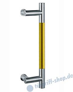 Klassik Modul 123/8 Stossgriff Länge 390 mm   Winkelgriffstütze   Edelstahl matt/Alu goldfarben eloxiert Schneider + Fichtel