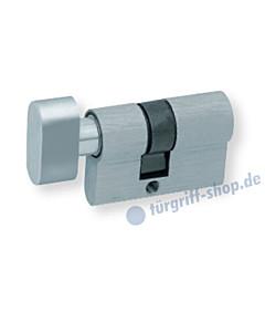 Knaufzylinder für Glastürschlösser WC-Verriegelung Aluminium Scoop