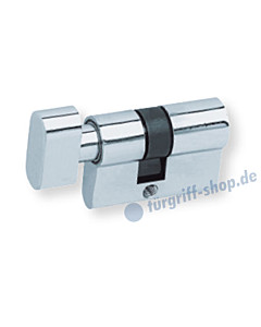 Knaufzylinder für Glastürschlösser WC-Verriegelung verchromt Scoop