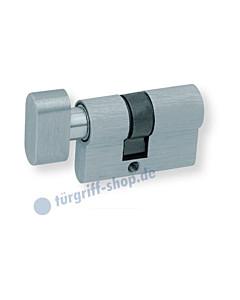 Knaufzylinder für Glastürschlösser WC-Verriegelung Edelstahl matt Scoop