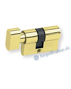 Knaufzylinder für Glastürschlösser WC-Verriegelung PVD Messinggelb Scoop
