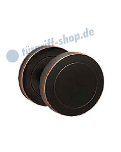 Knopf EK530 zentriert, fest, wechselseitige Verschraubung, Antik Bronze Optik von Karcher