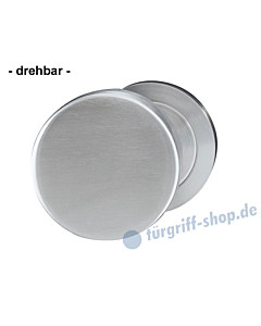 Türknopf gekröpft drehbar Ø 50 mm Edelstahl matt von Griffwelt
