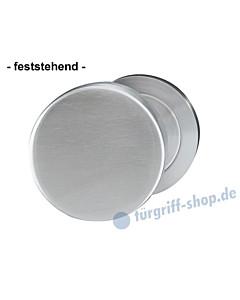 Türknopf gekröpft feststehend Ø 50 mm Edelstahl matt von Griffwelt