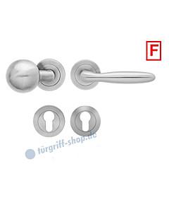 Korfu ER/FS24 Feuerschutz-Wechselgarnitur Knopf/Drücker PZ 9 mm Edelstahl matt Karcher Design