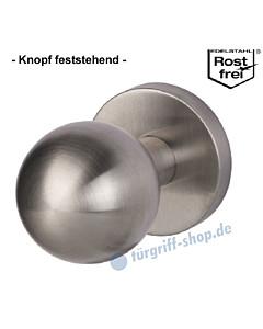 Kugelknopf auf Sicherheitsrosette zentriert, feststehend, Ø 50 mm, Edelstahl matt Südmetall