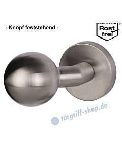 Kugelknopf gekröpft auf Sicherheitsrosette feststehend, Ø 50 mm, Edelstahl matt Südmetall