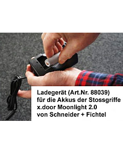 Ladegerät für die Akkus der Stossgriffe x.door - Moonlight 2.0 von Schneider + Fichtel