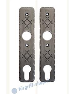 Kurzschildpaar Schmiedeeisen 50.02.1080  von Südmetall PZ 72 mm