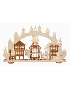 3D Schwibbogen / Lichterbogen Altstadt von Saico