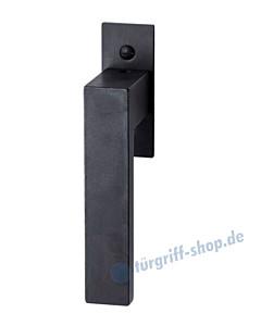 Lech Fenstergriff mit eckiger Rosette, mit Rasterung Multitac®, Stift 7 x 35 mm, Schwarzstahl von Halcö