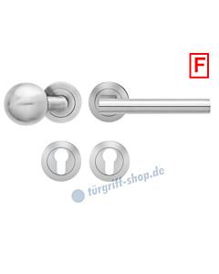 Madeira ER/FS45 Feuerschutz-Wechselgarnitur Knopf/Drücker PZ 9 mm Edelstahl matt Karcher Design