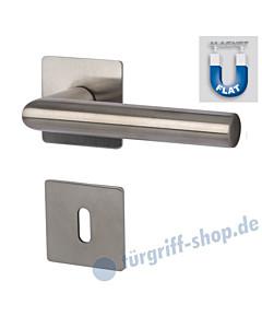 Mainz - R Square Quadrat-Rosettengarnitur MAGNET FLAT GK3 Edelstahl matt von Südmetall