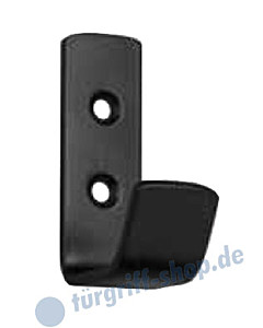 Mantelhaken 20 x 55 mm in Schwarz matt von Südmetall