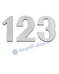 Hausnummer modern | Höhe 120 mm Messing matt vernickelt von Lienbacher