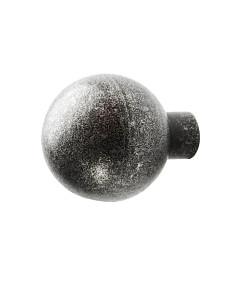 Möbelknopf 0211 Kugelknopf in 2 Größen schwarz passiviert von Halcö