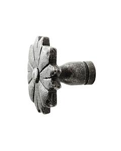 Möbelknopf 0211.006 rustikal Ø 36 mm schwarz passiviert von Halcö