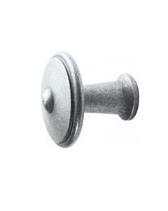 Möbelknopf 0211 rustikal rund in 2 Größen antik grau thermopatiniert von Halcö