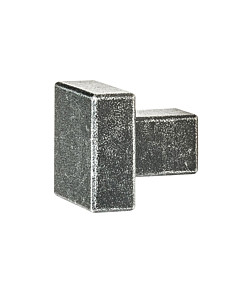 Möbelknopf 0211 quadratisch in 2 Größen schwarz passiviert von Halcö