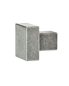 Möbelknopf 0211 quadratisch in 2 Größen antik grau thermopatiniert von Halcö