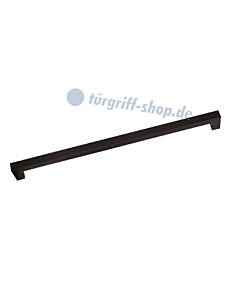 Möbelgriff in eckiger Stangenform, DM 12 x 12 mm in diversen Längen, Schwarz matt von Südmetall