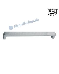 Möbelgriff in eckiger Stangenform, Griffstärke 20 x 10 mm, in diversen Längen, Edelstahl matt von Südmetall
