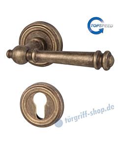 Mount Everest-R Rosetten-Halbgarnitur für Haustüren, Top Speed, Profilzylinder, 8 mm, GK4, Antik Bronze Südmetall