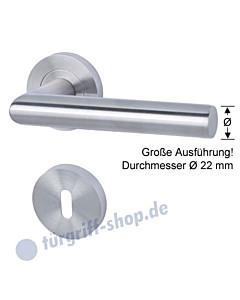 Nizza II-R Rosettengarnitur Drückerdurchmesser 22 mm, Edelstahl matt von Südmetall