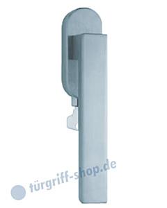 1002 (Quadra II) Fenstergriff abschließbar, ovale Olive, Edelstahl o. PVD Messing-poliert Scoop