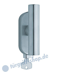 1010 (Cross) Fenstergriff abschließbar, ovale Olive, Edelstahl matt o. poliert Scoop