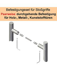 Stoßgriff-Befestigungs-Set | paarweise Befestigung an Metall/Holz/Kunststofftür Südmetall