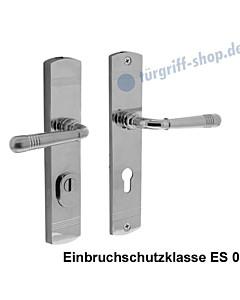 Schutzgarnitur Paola nach ES 0, Drücker/Drücker KZS Chrom poliert von Edestar