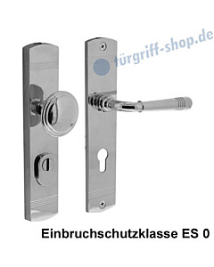 Schutzgarnitur Paola nach ES 0, Knopf/Drücker KZS Chrom poliert von Edestar