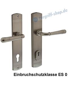 Schutzgarnitur Paola nach ES 0, Drücker/Drücker KZS Nickel matt von Edestar