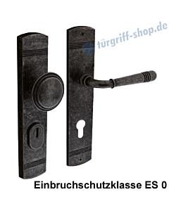 Schutzgarnitur Paola nach ES 0, Knopf/Drücker KZS Antik-grau von Edestar