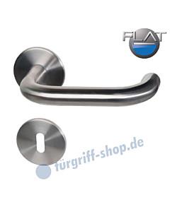 Paula II-R FLAT Rosettengarnitur Edelstahl-matt von Südmetall