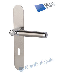 Queen-LS Langschildgarnitur PLANO Chrom/Edelstahl-matt von Südmetall