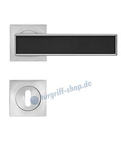 Torino R 53Q quadratische Rosettengarnitur mit Inlay Nickel matt von Karcher