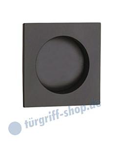 R60 Schiebetürmuschel quadratisch in schwarz RAL 9005 von Reguitti