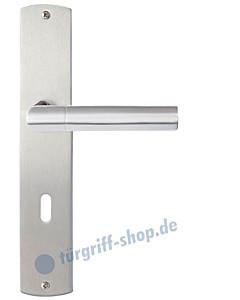 Como Langschildgarnitur Nickel matt/Edelstahl poliert/matt Griffwelt