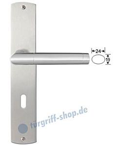 Genua Langschildgarnitur Nickel matt/Edelstahl matt Griffwelt